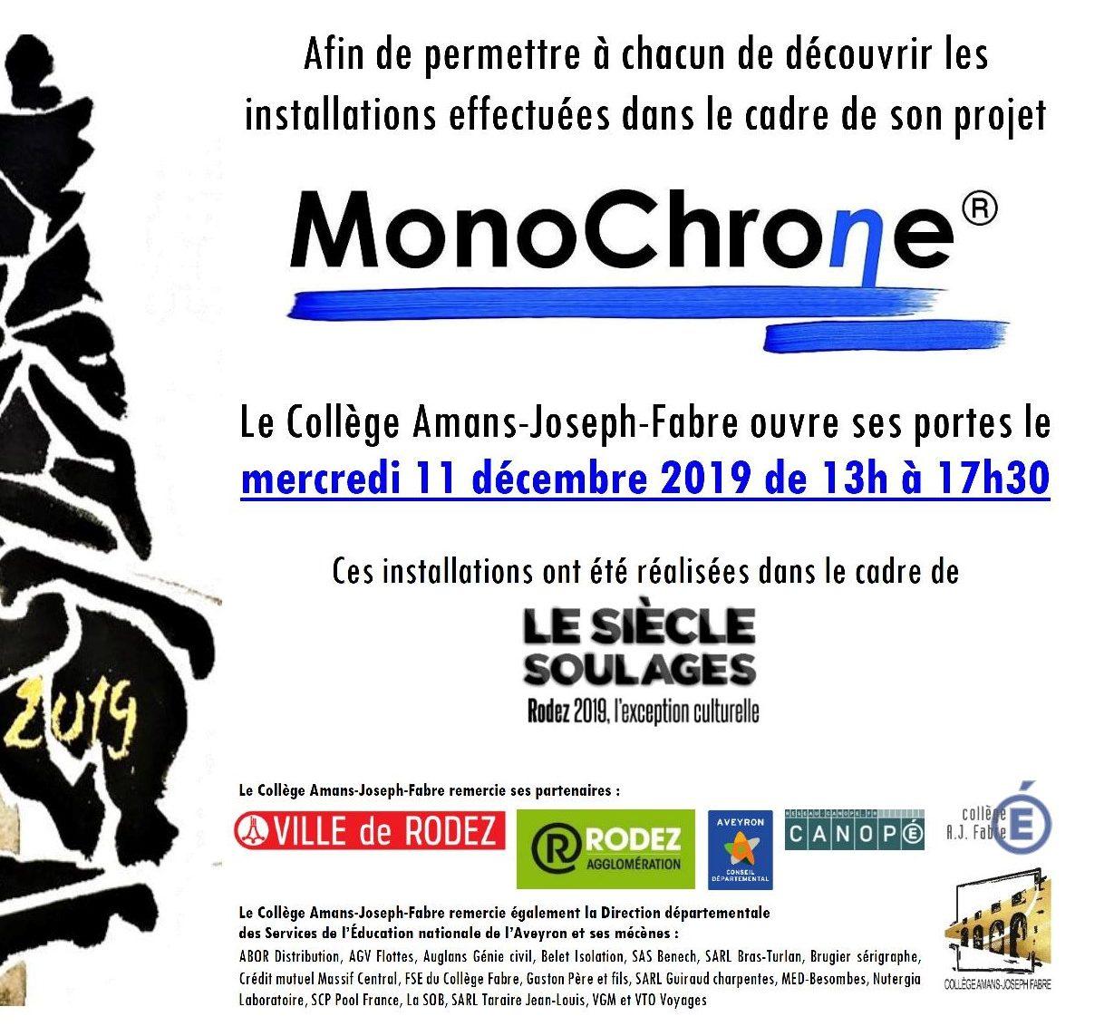 """Pour le """"Siècle Soulages"""", le Collège Amans-Joseph-Fabre s'ouvre au public..."""